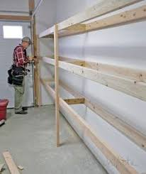 Hanging Wall Shelves Woodworking Plan by Best 25 Garage Shelving Plans Ideas On Pinterest Building