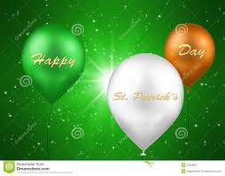 st patrick s day irish balloons royalty free stock photography