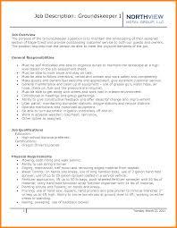 Landscaping Skills Resume Groundskeeper Resume Sample Resume For Your Job Application