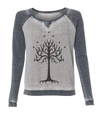 lord of the rings tree of gondor burnout style womens
