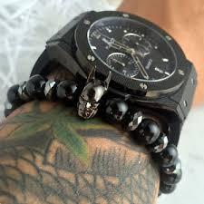 black bead bracelet ebay images Batman bracelet ebay JPG