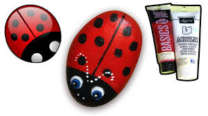 how to paint ladybug on pebble rock how to draw and color kids