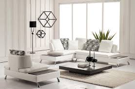 furniture set for white living room design with white velvet sofa
