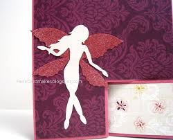 handmade fairy birthday card pink and purple summer breeze