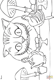 cheshire cat coloring pages alice in wonderland coloring pages