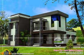modern flat roof house with bhk kerala home design and floor