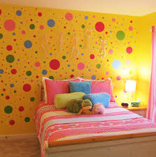 simple design teenage girls bedroom ideas showing off yellow color