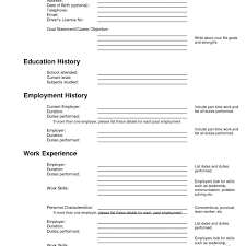 fill in the blank resume template free blank resume template pdf templates for teachers to