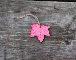 maple leaf ornament etsy
