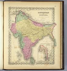 British India Map by Hindostan Or British India David Rumsey Historical Map Collection