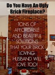 Brick Fireplace Paint Colors - my husband loves our ugly brick fireplace laurel home