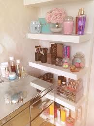 Small White Shelves by Best 25 Makeup Shelves Ideas On Pinterest Diy Makeup Vanity