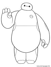 big hero 6 movie cute baymax coloring pages printable