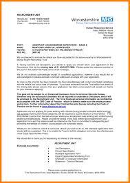 7 housekeeper supervisor resume job apply letter