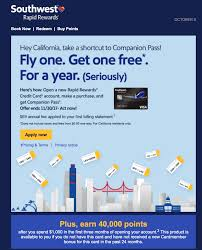 California best credit card for travel images California residents earn a companion pass from one purchase png