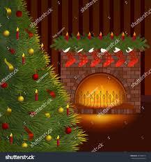 cute vector illustration christmas tree red stock vector 325108214