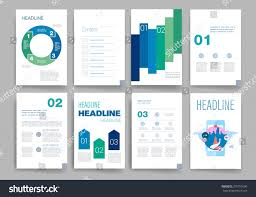 brochure design template set templates design stock vector
