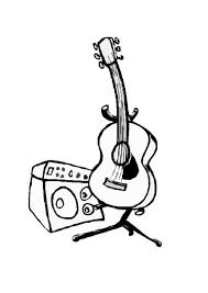 electric guitar coloring pages eliolera com