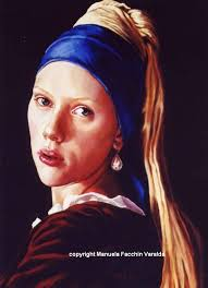girl with the pearl earring painting manuela facchin varalda artwork girl with a pearl earring homage