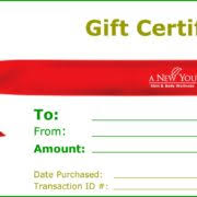 wonderful holiday gift certificate template for christmas with