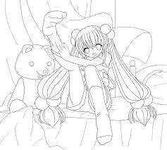 kawaii anime lineart by azrx004 on deviantart