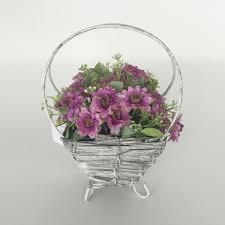 flower basket cross handle farmhouse flower basket the chic pad