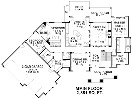 building plans houses craftsman house plan with 3 bedrooms and 2 5 baths plan 9671