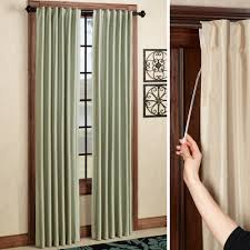 ideas advantages of room darkening curtains with brown wall