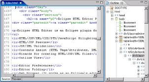 design html page in eclipse eclipsehtmleditor project amateras