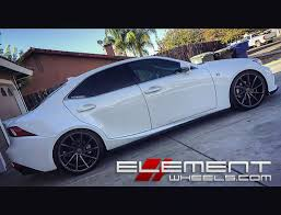 2015 red lexus is 250 20 inch staggered vossen cvt gloss graphite true directional on