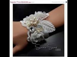 how to make wrist corsages diy handmade bridal wrist corsage bracelet