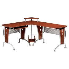 wood l wood l shaped computer desk office home decor cozy desks plus