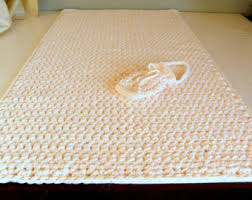 Large Bathroom Rugs Round Bath Rug Crochet Thick Plush White W Black Spec Cotton