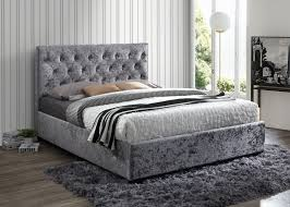 Velvet Bed Frame Birlea Cologne Steel Crushed Velvet Bed Frame Fabric Beds Beds