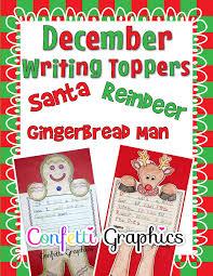 december writing toppers u0026 footers santa claus reindeer and