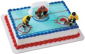 hockey cake toppers hockey faceoff decoset cake decoration toys