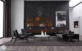 modern and elegant style with black living room hupehome