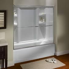 glass tub shower doors frameless euro frameless sliding tub shower doors american standard