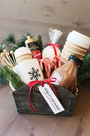 hot chocolate gift basket the hot cocoa gift basket diy network basket ideas and