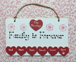 personalised family is forever plaque