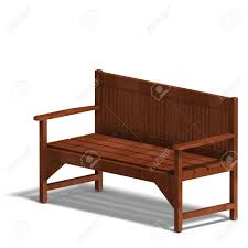 Wooden Park Bench Wooden Park Bench 3d Render With Clipping And Shadow Over White