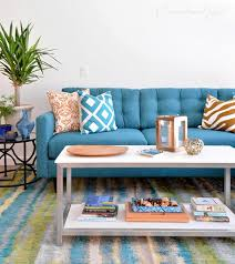 our new teal blue sectional centsational style