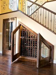 decorations appealing under stairs wine cellar storage with