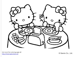kitty coloring pages pictures kitty color book