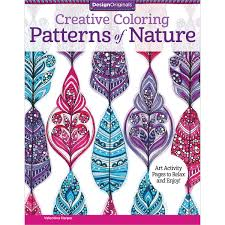 amazon com creative coloring patterns of nature art activity
