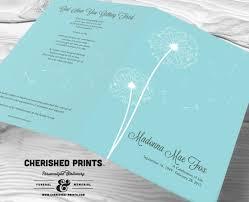 sle of funeral program beautiful dandelion funeral program funeral folder