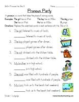 pronoun worksheet  pronoun worksheets worksheets and therapy with pronoun worksheet from pinterestcom