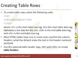 Html Table Header Row Introductory Tutorial 7 Creating Tables Xp New Perspectives On