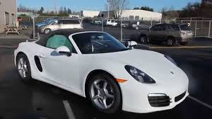 custom porsche boxster 2015 porsche boxster white stock 110291 walk around youtube