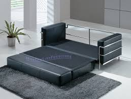 Black Leather Sleeper Sofa by Modern Line Furniture Commercial Furniture Custom Made